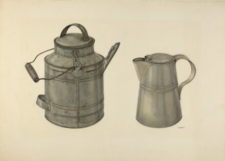 Zoar Tin Coffee Pot and Pail