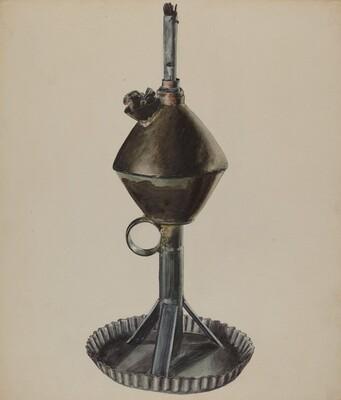 Lard or Whale Oil Lamp