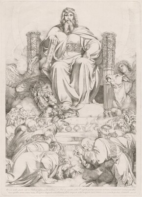 Et ecce sedes posita erat in coelo... [God the Son in Majesty on the Throne Surrounded by the Four Creatures and Worshipped by the Twenty-four Elders]