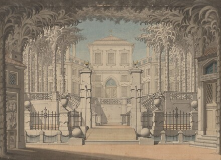 A Turkish Palace (Probably for Mozart's Abduction from the Seraglio)