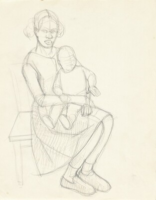 Study for Great America (Mother and Child)