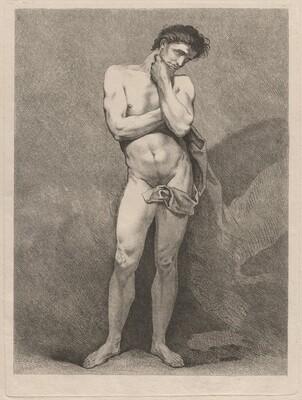 Standing Man in Pensive Pose