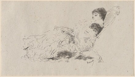 The Artist's Daughter Eleonora Reclining on a Chaise-Longue