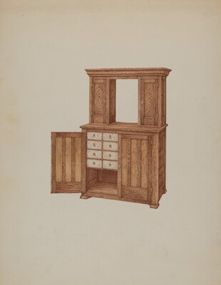 Cabinet, with Ivory Keyholes