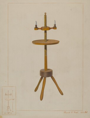 Maple Candlestand