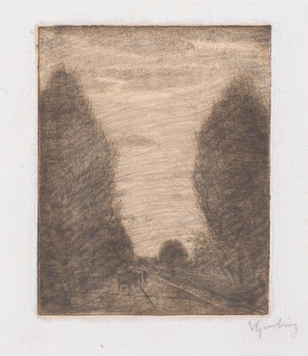 Wooded Landscape with a Cart