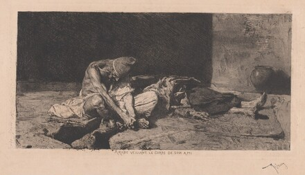 Arabe veillant le corps de son ami (Arab Watching over the Body of His Friend)