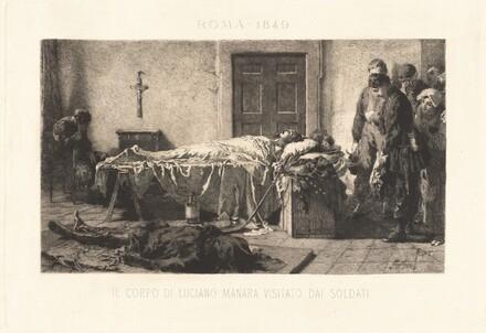 Il corpo di Luciano Manara visitato dai soldari (The Body of Luciano Manara Visited by Soldiers)