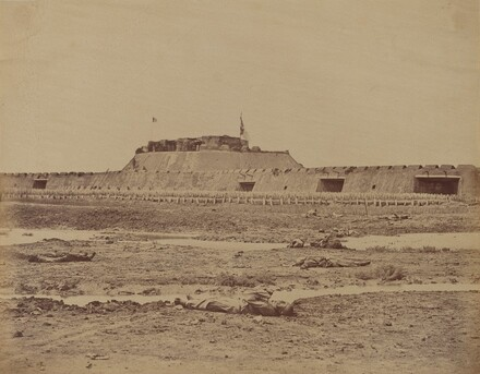 Rear of the North Fort After Its Capture, Showing the Retreat of the Chinese Army, August 21, 1860