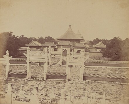 Interior and Arches of the Temple of Heaven Where the Emperor Sacrifices Once a Year, in the Chinese City of Pekin, October 1860