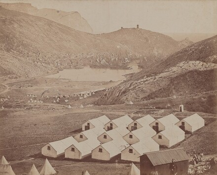 Hutted Camp with Balaclava Harbor in Distance