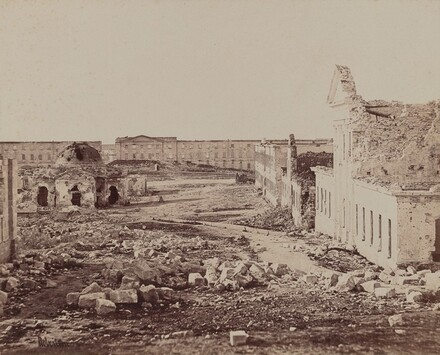 Courtyard with Domed Building in Ruins