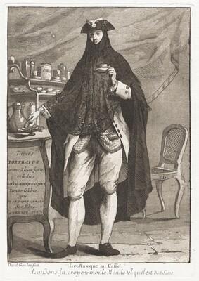 Le Masque au caffé (The Masked Man Taking Coffee)