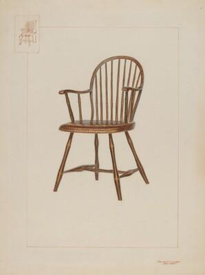 Windsor Bamboo-turned Chair