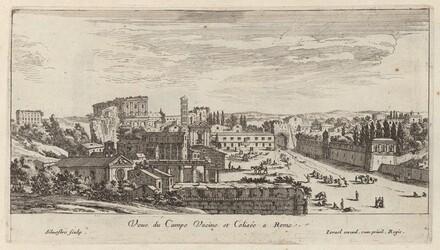 Veue du Campo Vacine et Colisée a Rome