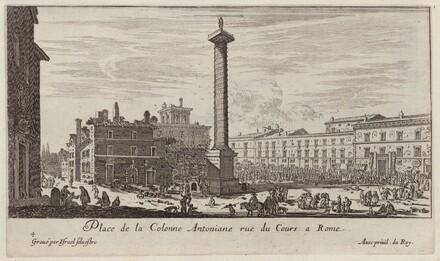 Place de la Colonne Antoniane ruë du Cours a Rome