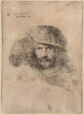 Self-Portrait(?), Wearing a Plumed Cap [Portrait of Bernini]