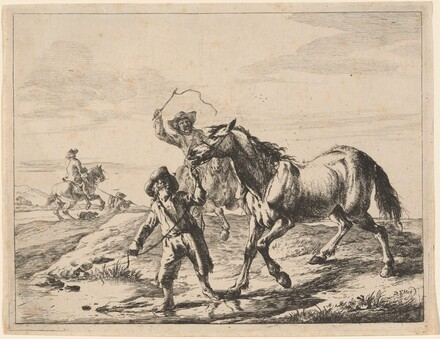 A Boy Taking a Horse to Drink