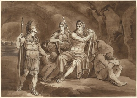 Telemachus Requests Permission from Pluto to Seek His Father in the Underworld