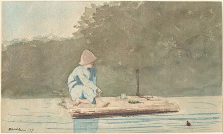 Boy on a Raft