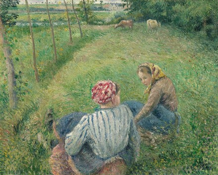 Young Peasant Girls Resting in the Fields near Pontoise