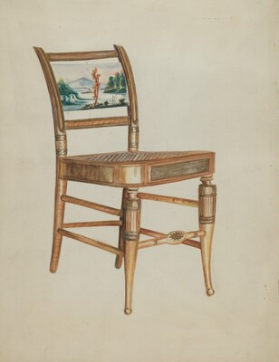Chair - with Hudson River Scenes