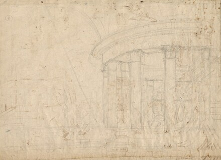 Architectural Fantasy on a Round Temple Enclosed with an Ambulatory (verso)
