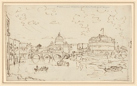 The Tiber with Saint Peter's and the Castel S. Angelo (recto)