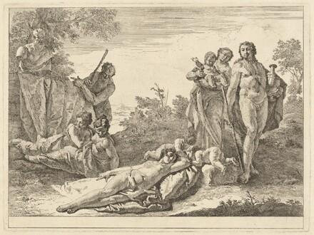 Nine Figures around a Herm of Pan