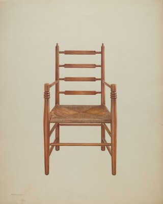 Chair, Pine with Rush Seat