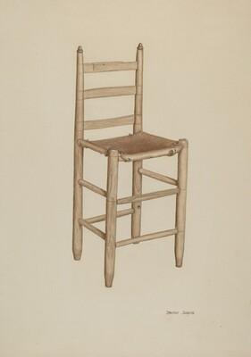 Hide-bottom High-seat Chair