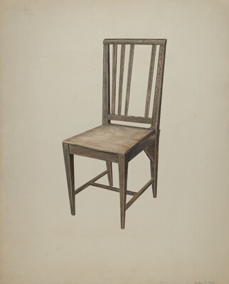 Wooden Straight Chair