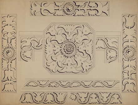 Connecticut-type Hadley Chest-Detail of Central Panel