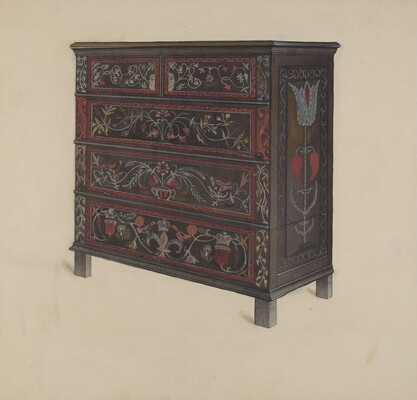Guilford Painted Chest