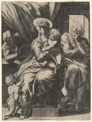 Holy Family with Saint Elizabeth and the Young John the Baptist