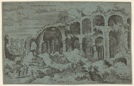 Colossaei. Ro. Prospectus. 3 (Third View of the Colosseum in Rome)