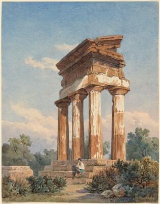 A Temple Ruin in Agrigento