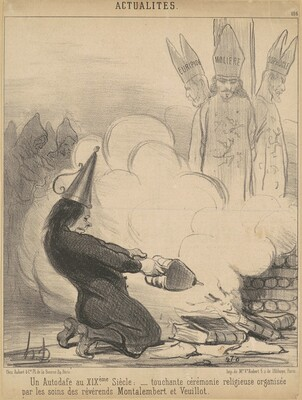 Un autodafé au XIXe  siècle