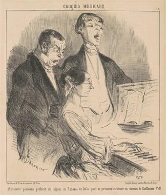 Amateurs parisiens profitant du séjour de Rossini
