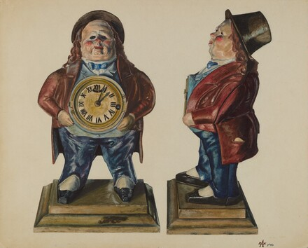 Clock-Toby (front and side view)