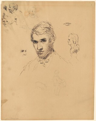 Head of a Young Man and Assorted Studies