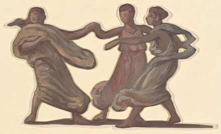 Three Dancing Figures (study for Greek Girls Bathing)