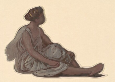 Seated Figure I (study for Greek Girls Bathing)
