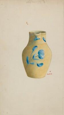 Stoneware Cream Pitcher