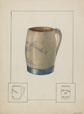 Earthenware Beer Mug