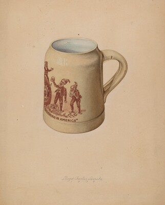Stoneware Mug for Beer