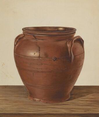 Two Handled Jar - Stoneware