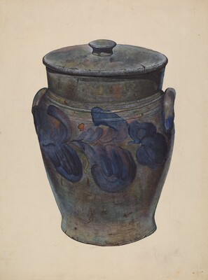 Gray Stone Jar