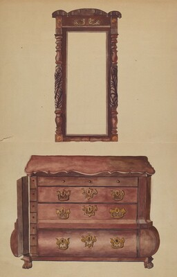 Drawers and Mirror