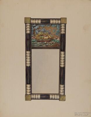 Hand Carved Mirror Frame